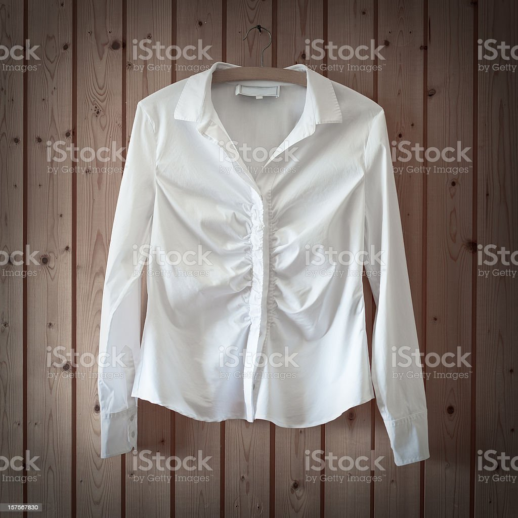 White Business Blouse royalty-free stock photo
