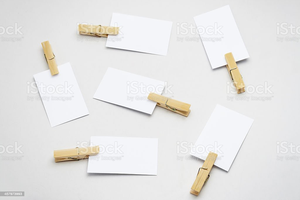 White businsee card royalty-free stock photo