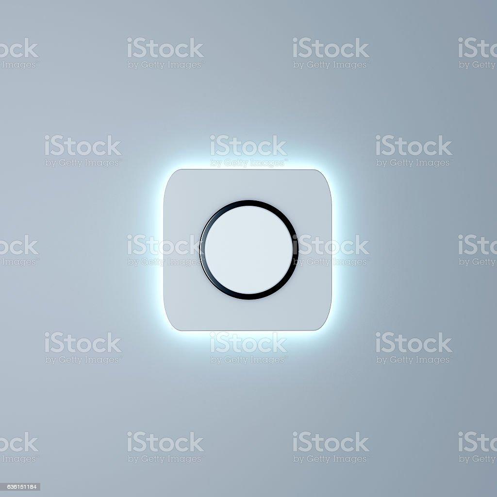 White button mockup stock photo