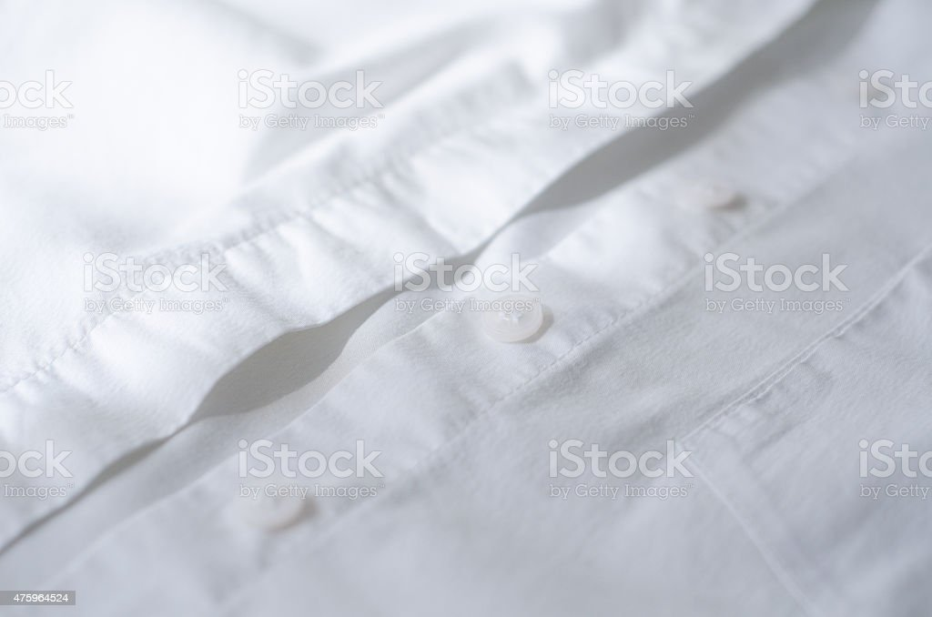 white buttons on  shirt female stock photo