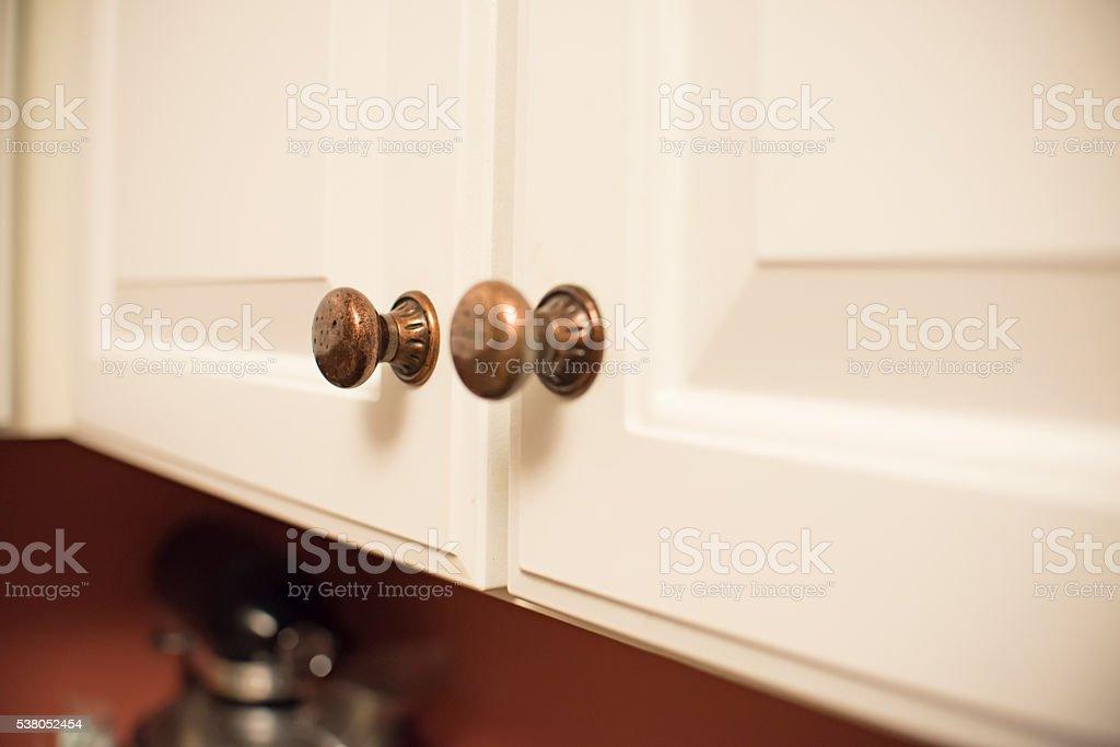 White Cabinets stock photo