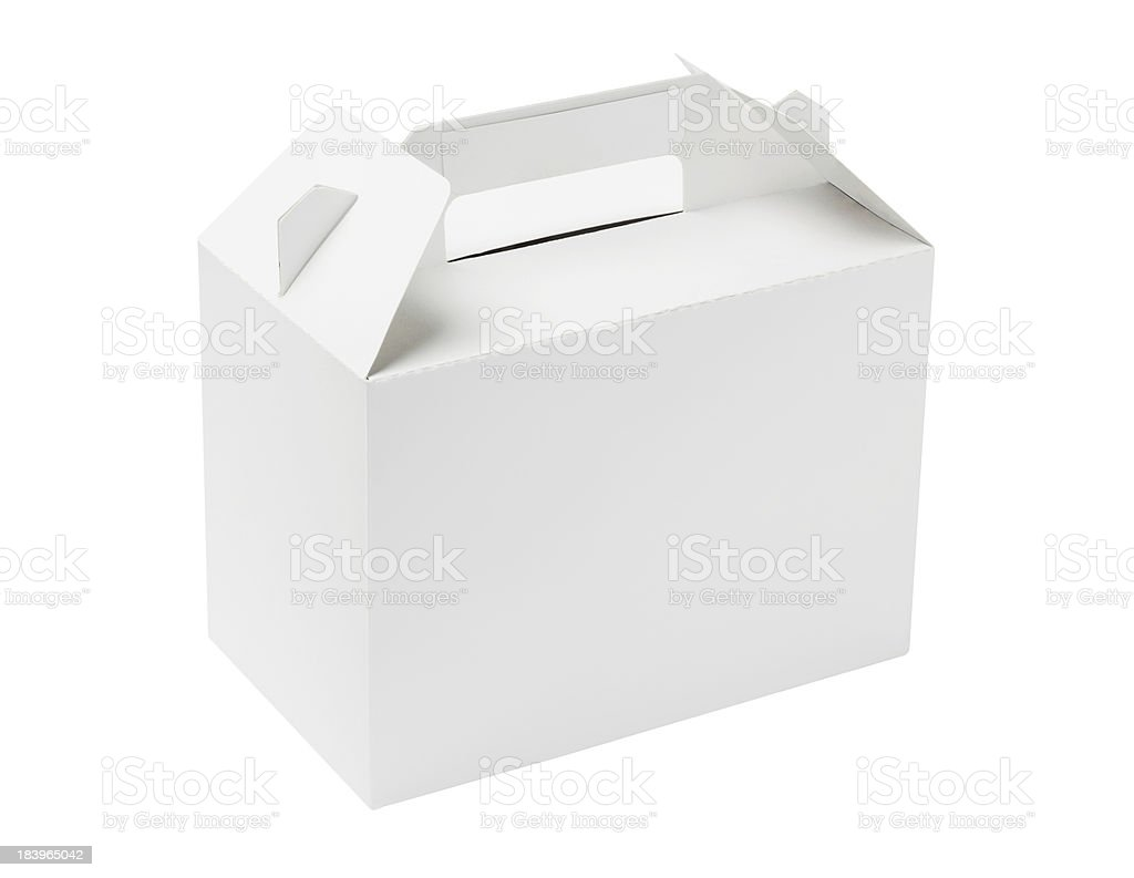 White Cake Box stock photo