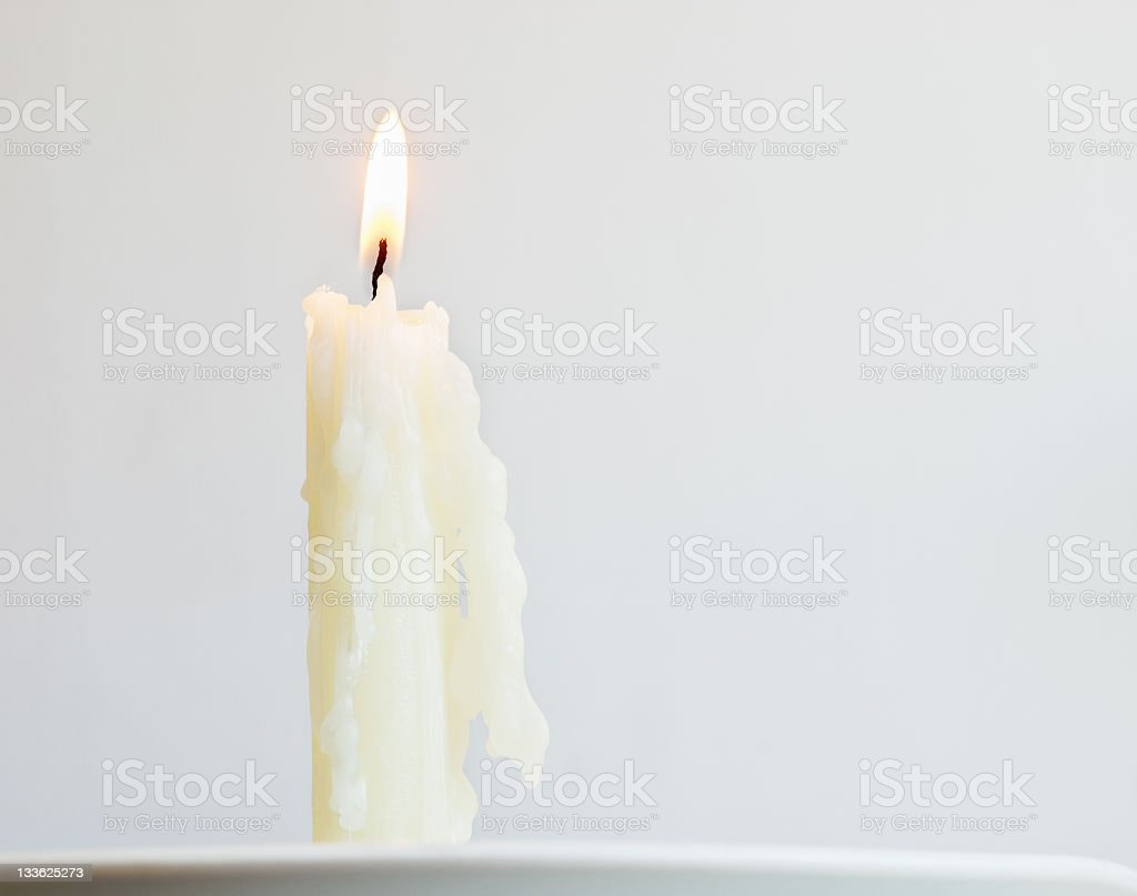 White candle stock photo