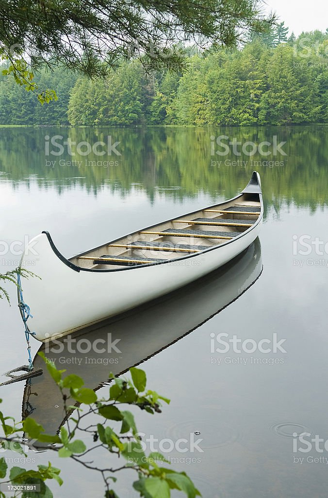 White Canoe stock photo