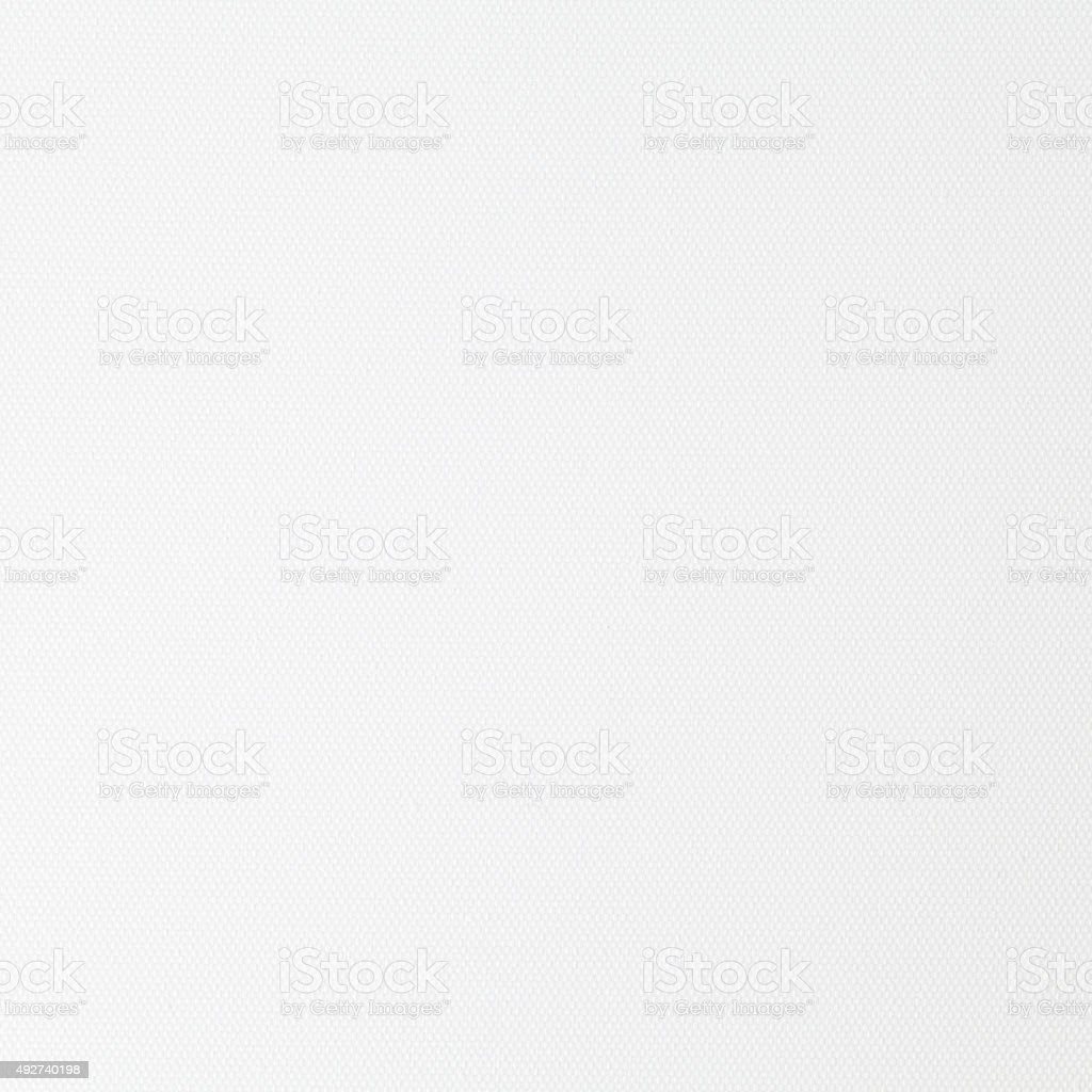 White canvas fabric texture and background seamless stock photo