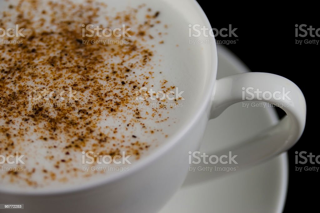 White cappuccino cup royalty-free stock photo
