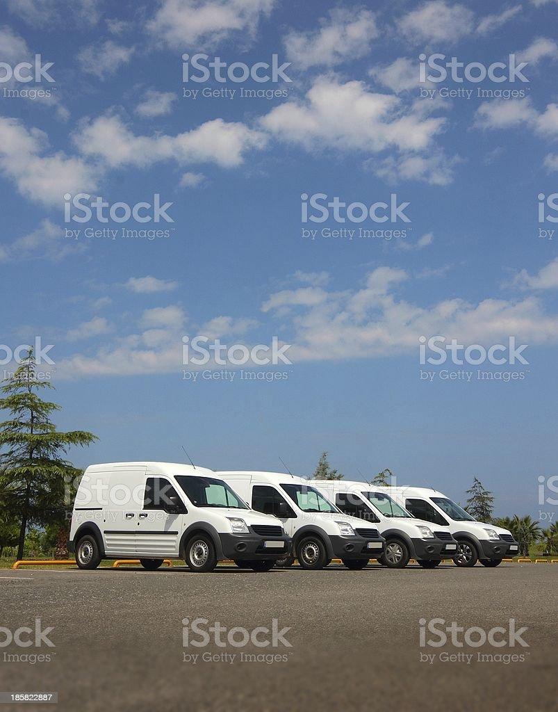 White Car Fleet stock photo