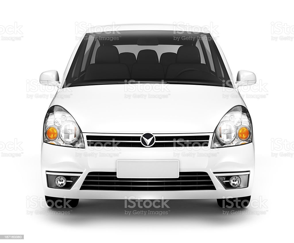 White Car stock photo