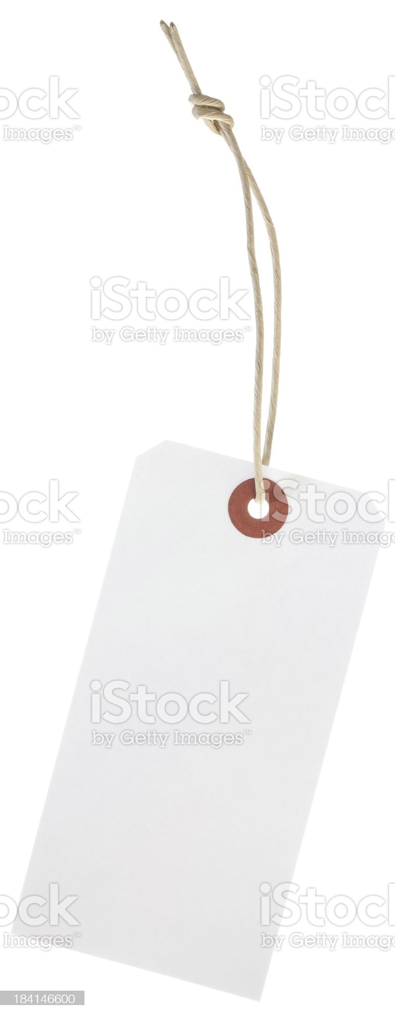 White card shipping tag isolated royalty-free stock photo