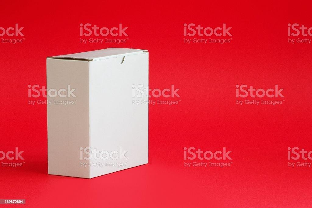 White Cardboard Box royalty-free stock photo