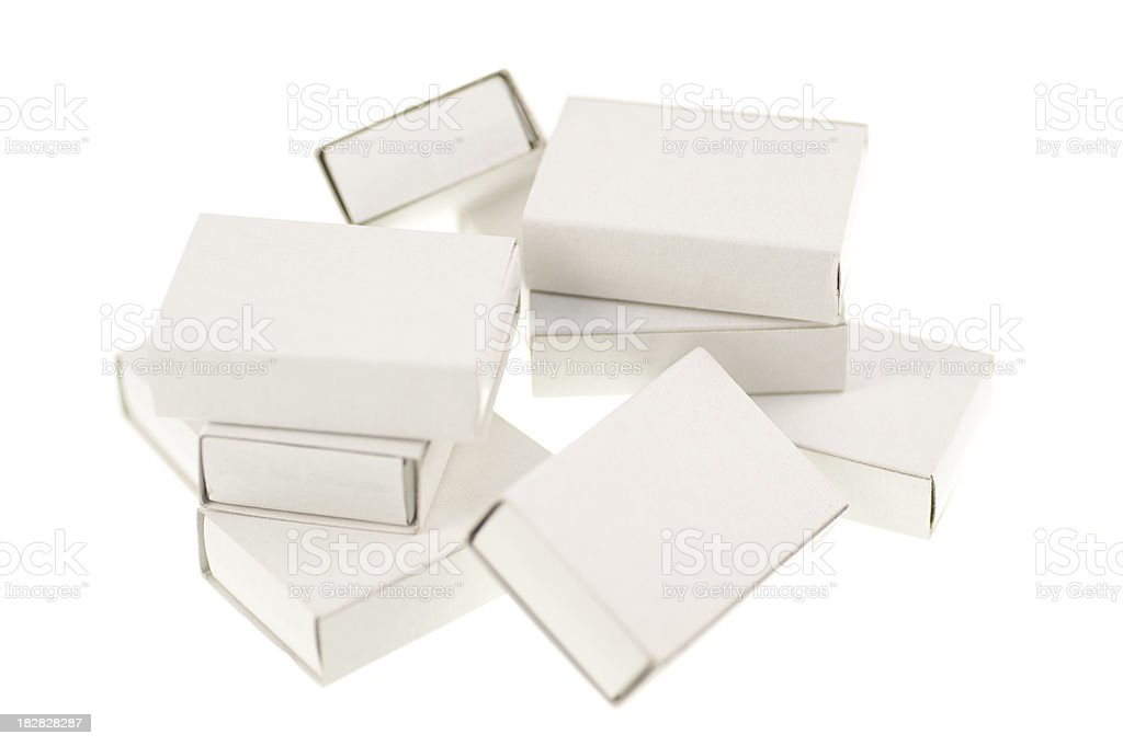 white cardboard packets with copyspace royalty-free stock photo