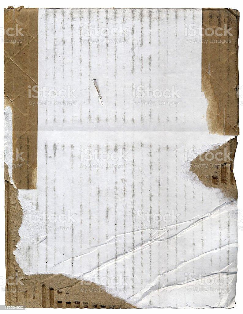 White Cardboard Rip Background royalty-free stock photo