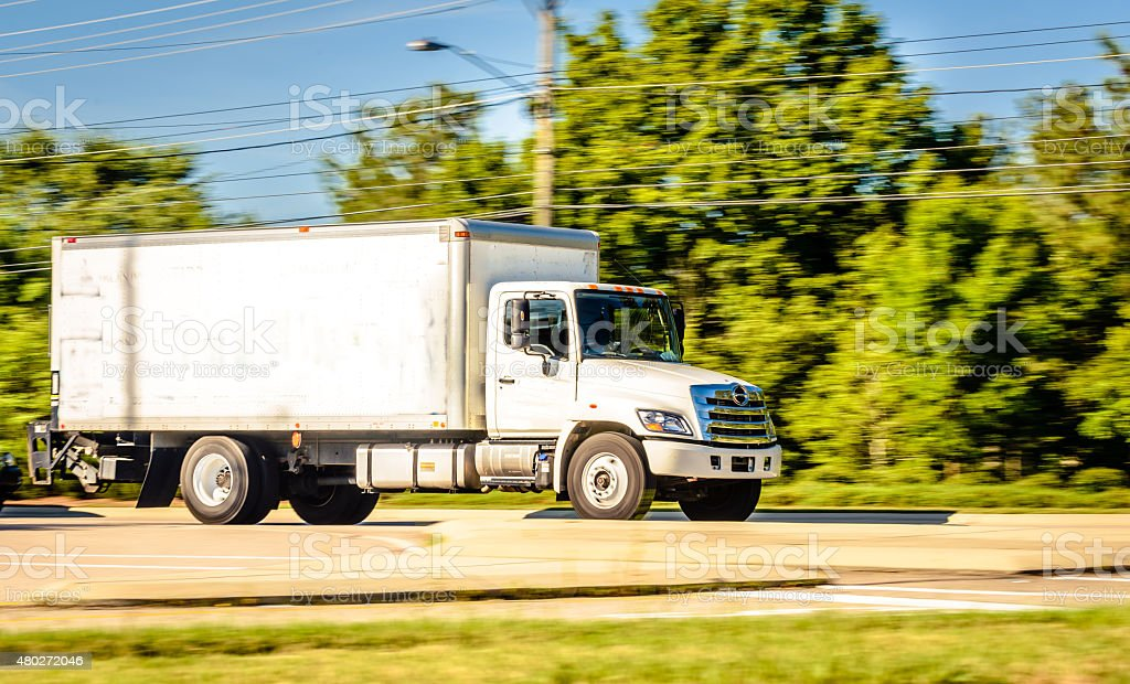 White Cargo Truck stock photo