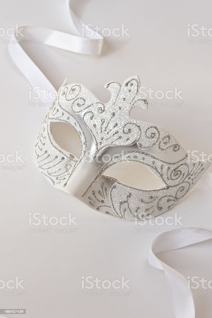 White carnival mask royalty-free stock photo