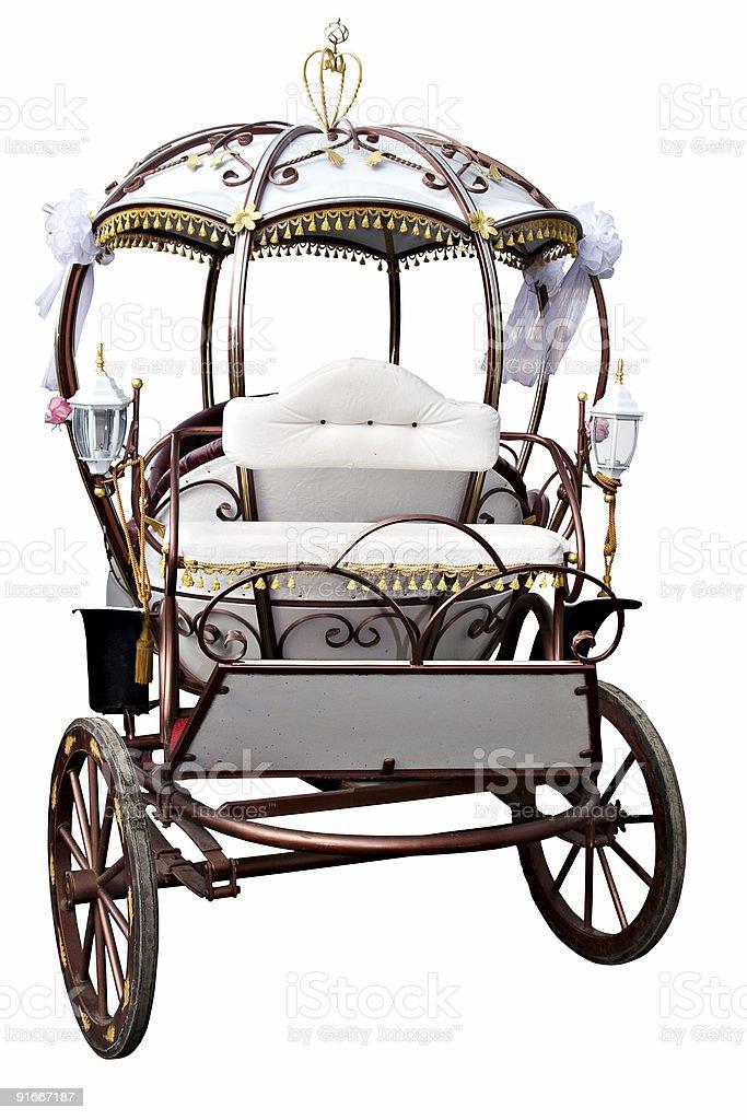 White carriage stock photo