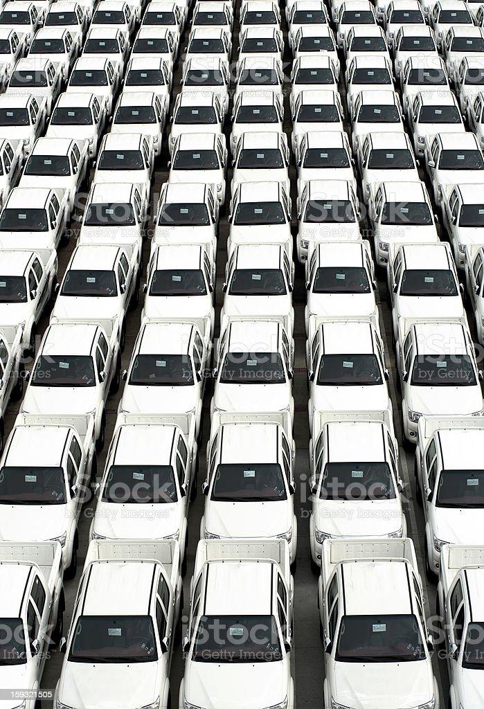 White Cars royalty-free stock photo