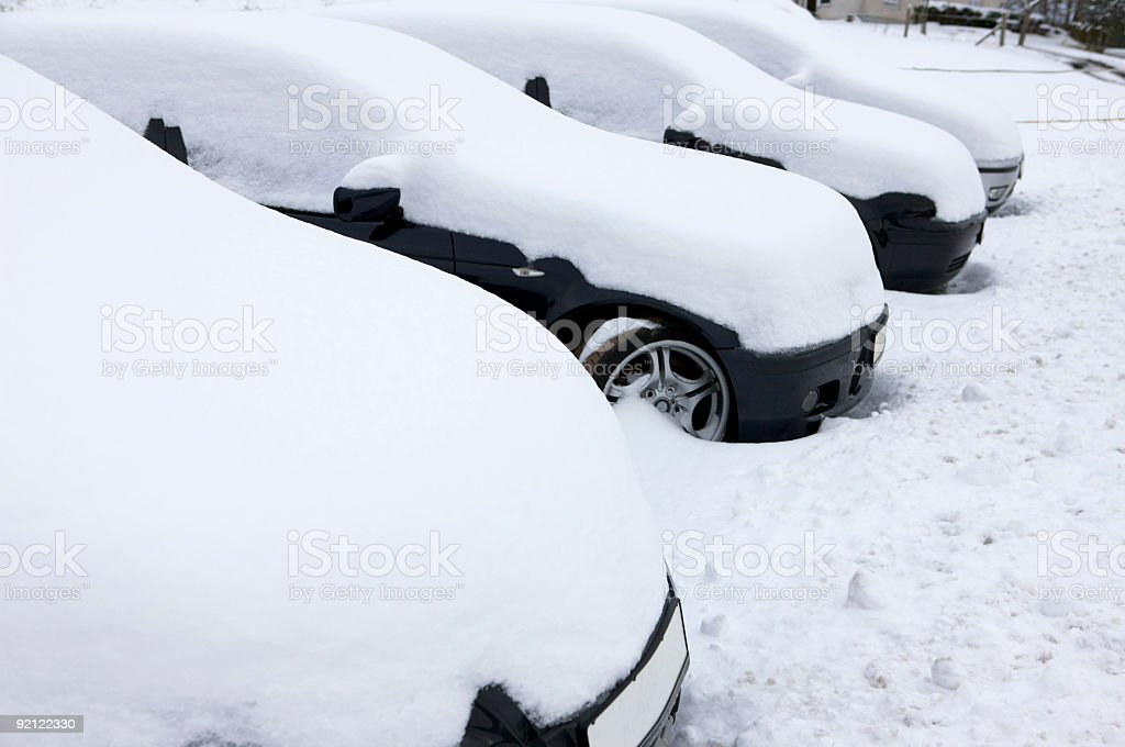 white cars royalty-free stock photo