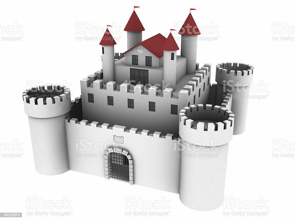 White Castle (Isolated) royalty-free stock photo