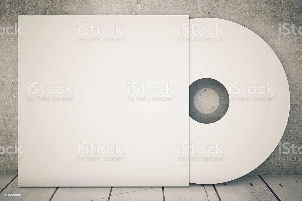 White CD stock photo