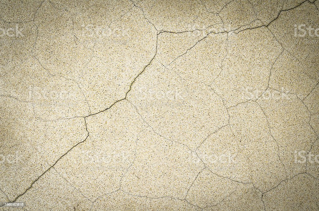 White cement floor cracked. royalty-free stock photo
