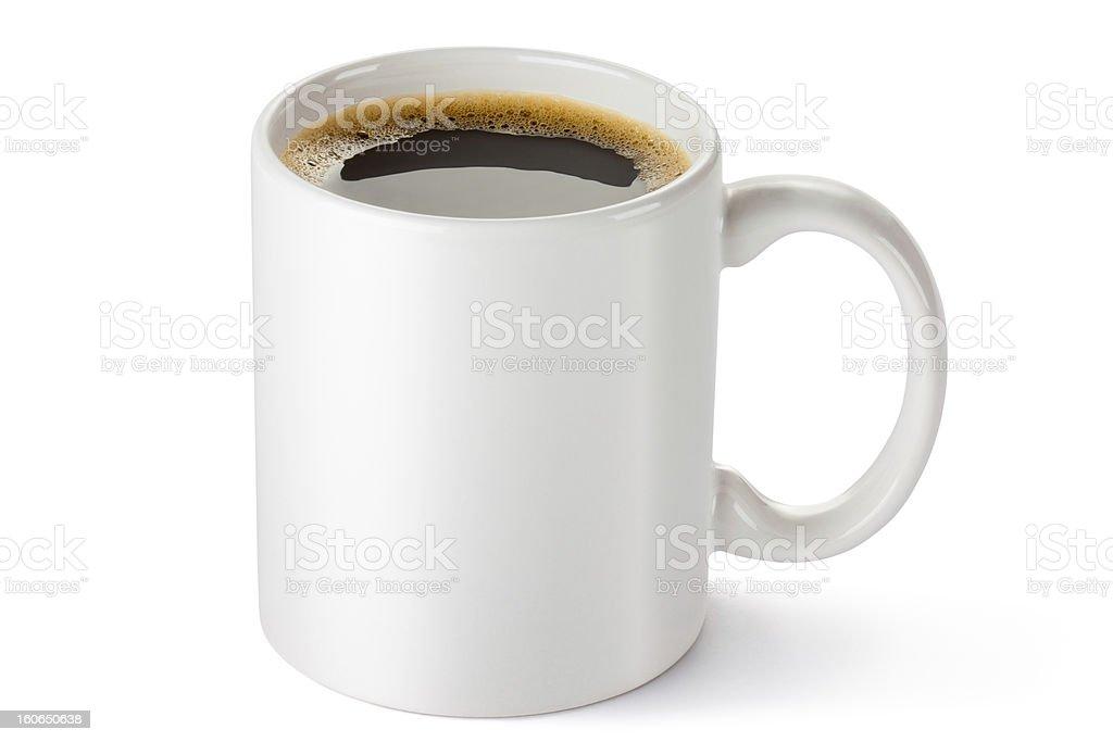 White ceramic coffee mug royalty-free stock photo