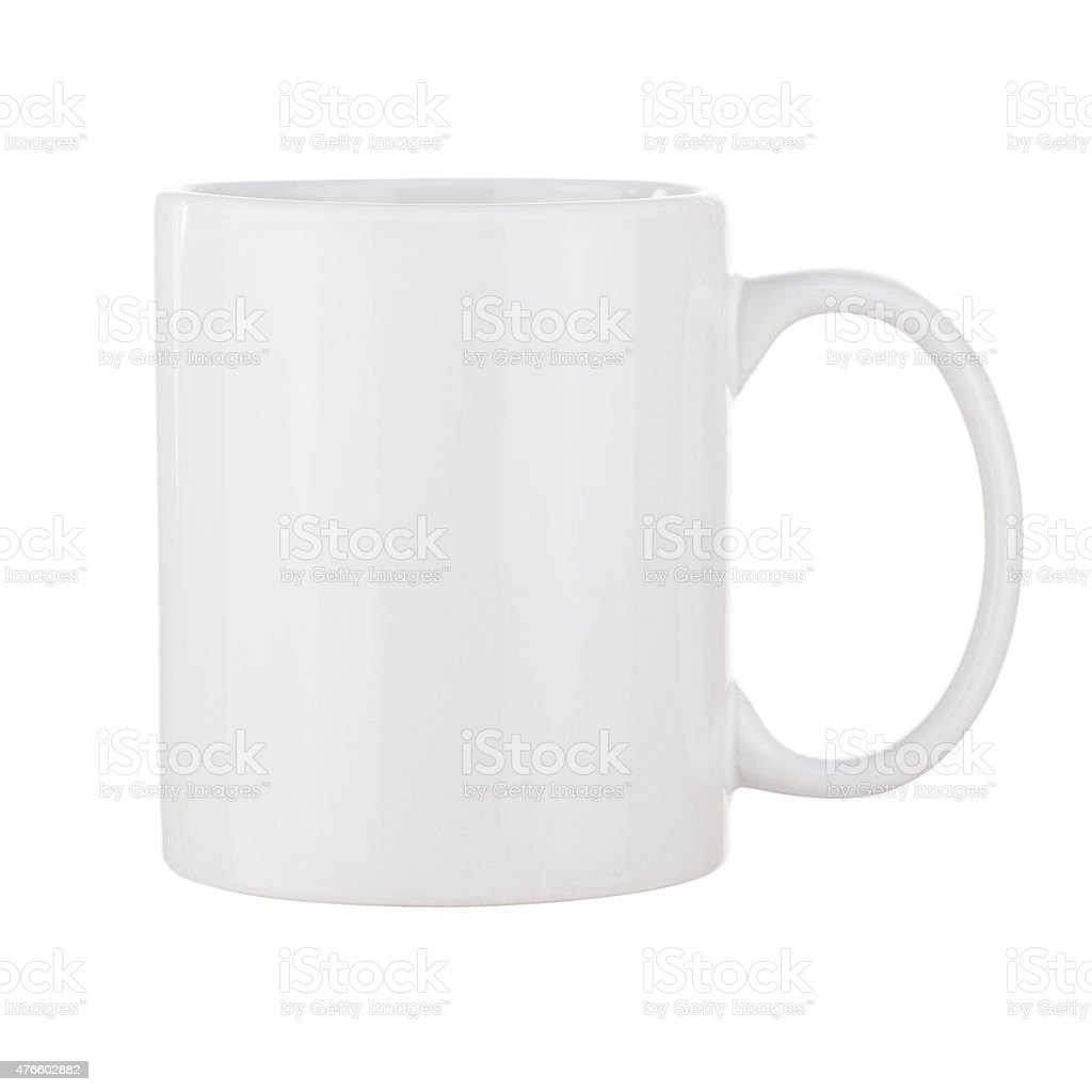 White ceramic cup for coffee. stock photo