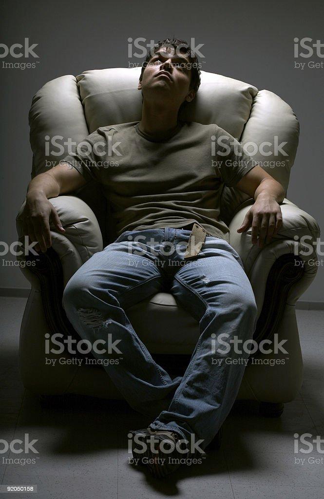 white chair royalty-free stock photo