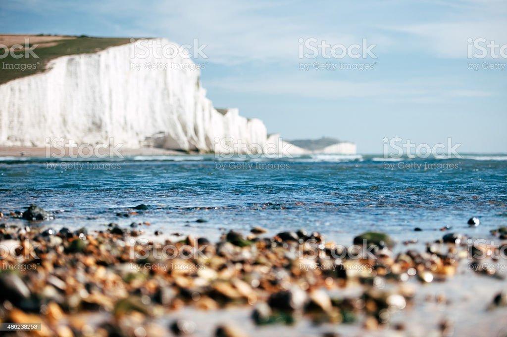 White Chalk Cliffs stock photo