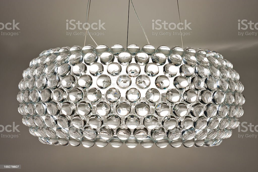 White chandelier royalty-free stock photo