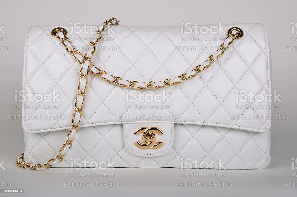 White Chanel bag stock photo