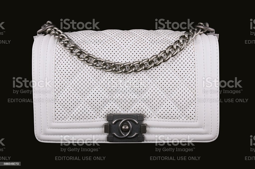 White Chanel bag stock photo