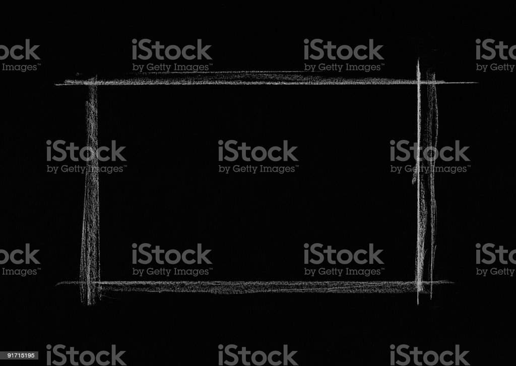White Charcoal Rectangle on black background royalty-free stock photo