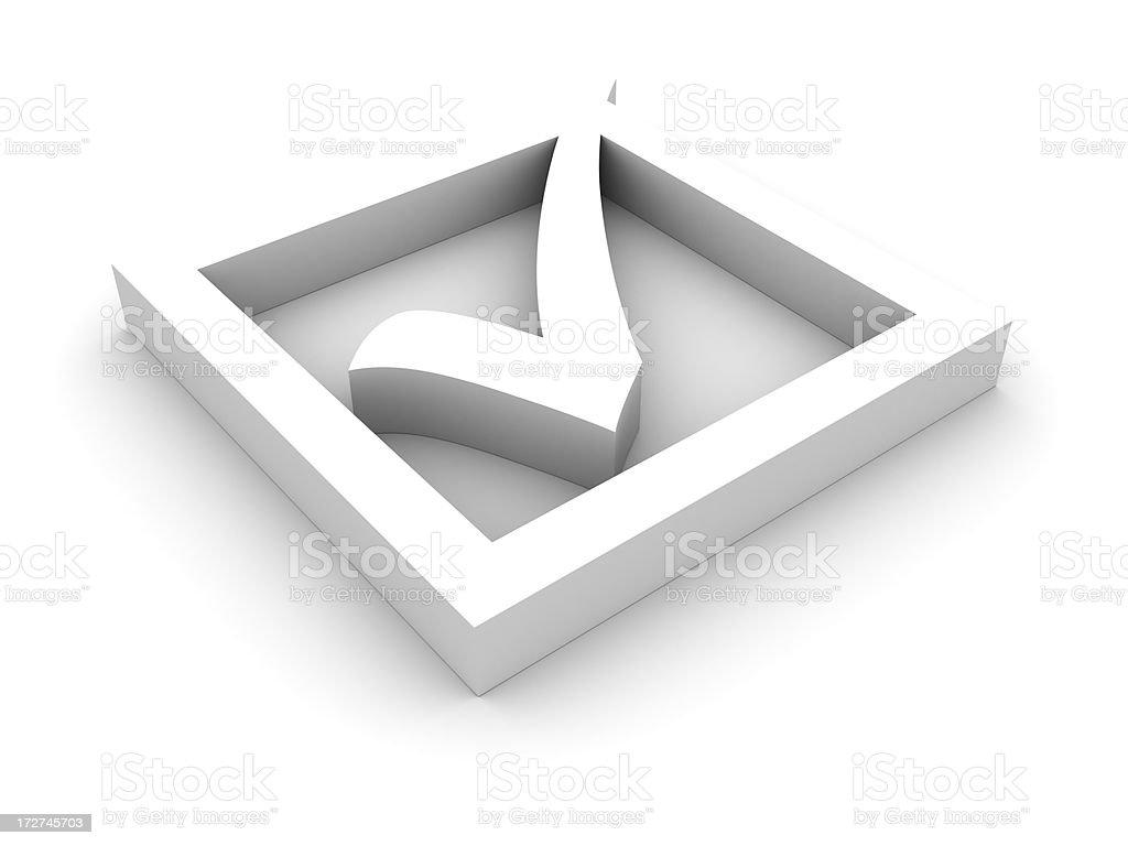 White check mark royalty-free stock photo