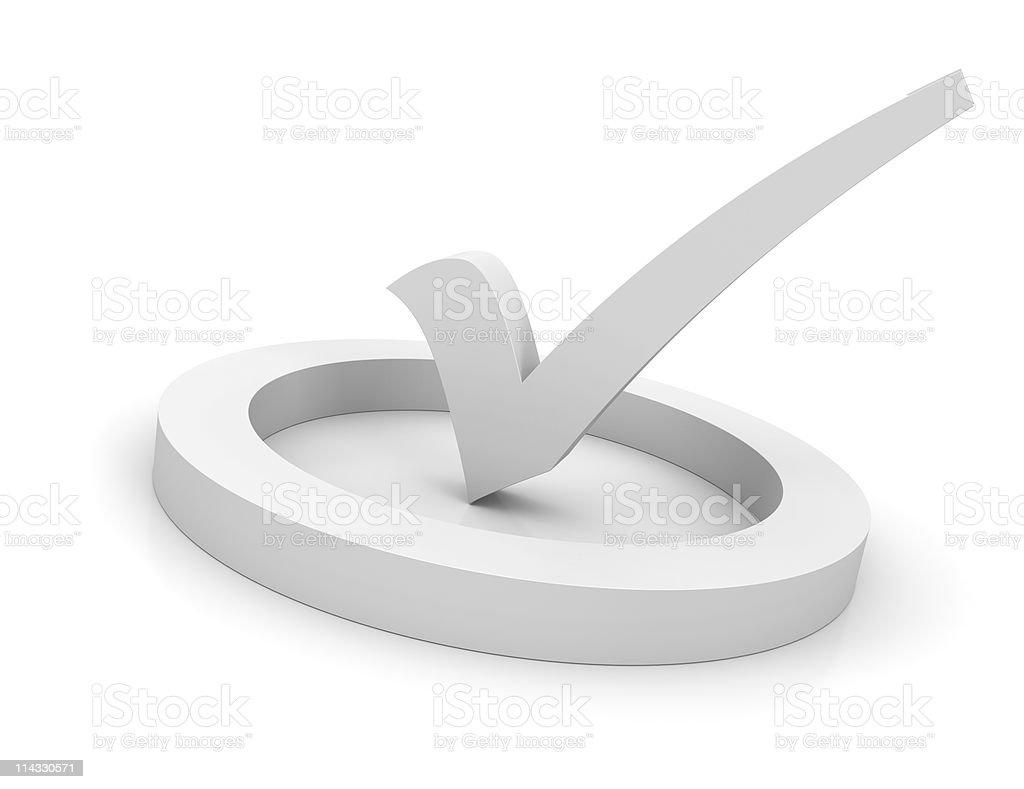 White Check Mark Symbol royalty-free stock photo