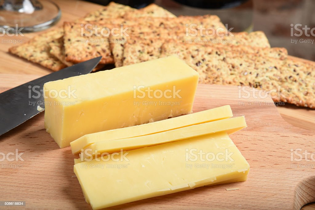 White cheddar cheese stock photo