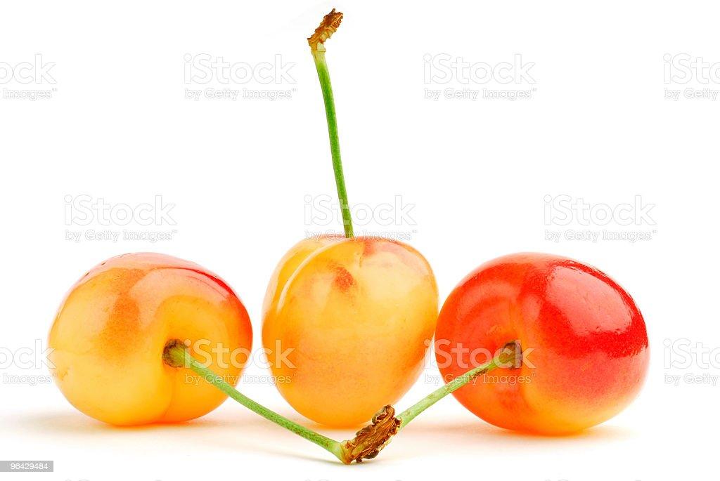 White Cherries stock photo