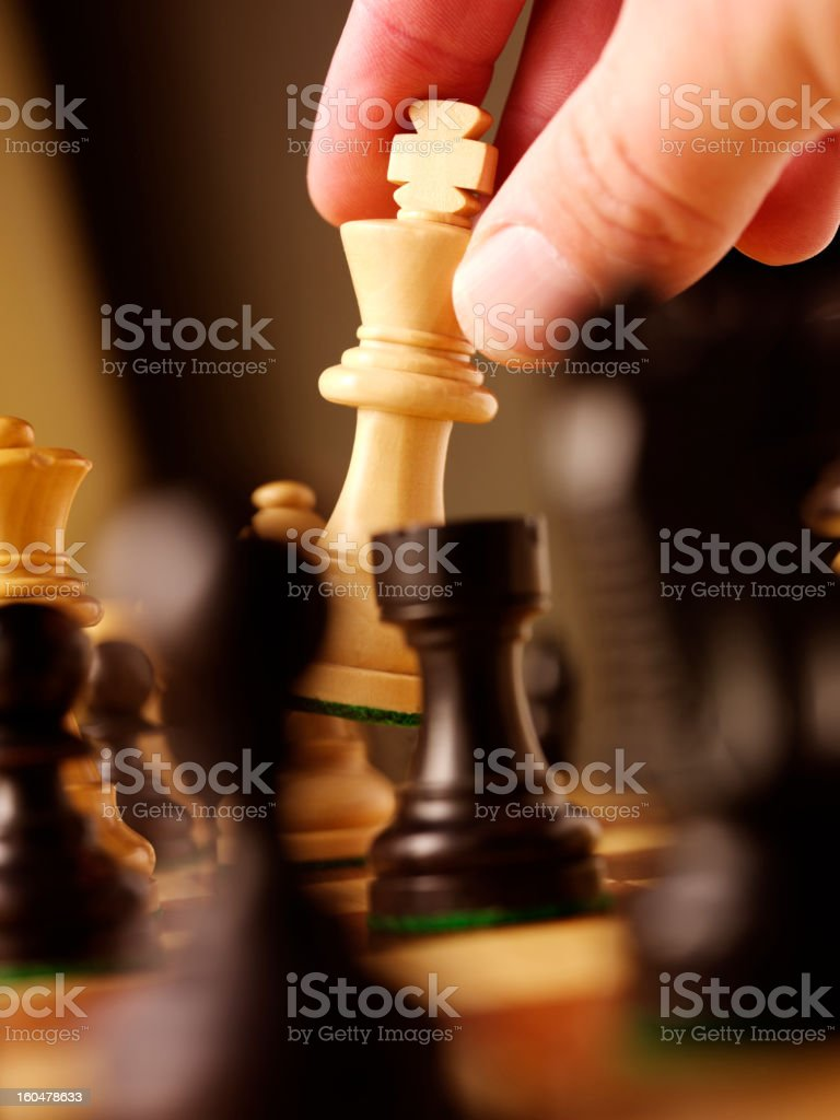 White Chess King royalty-free stock photo