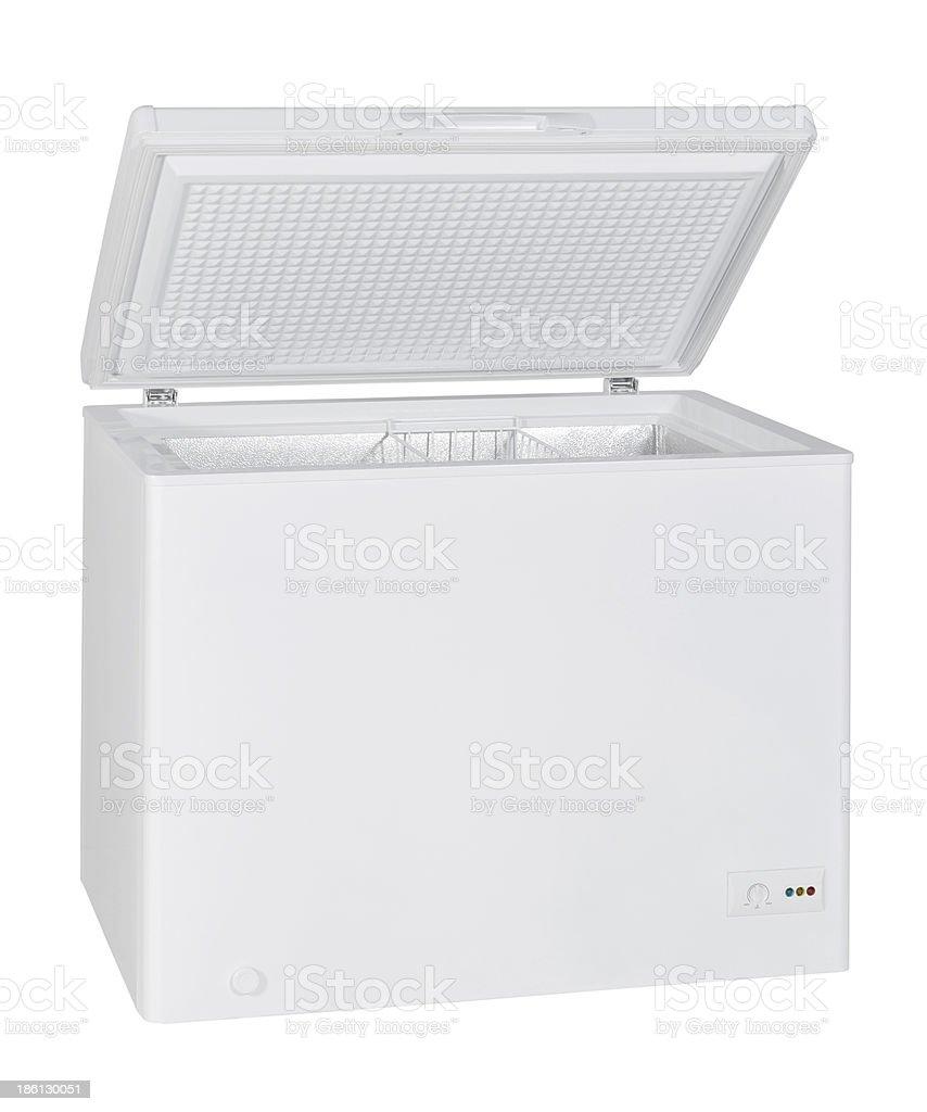 White Chest Freezer stock photo