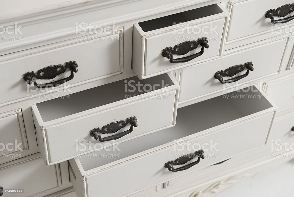 white chest of drawers royalty-free stock photo