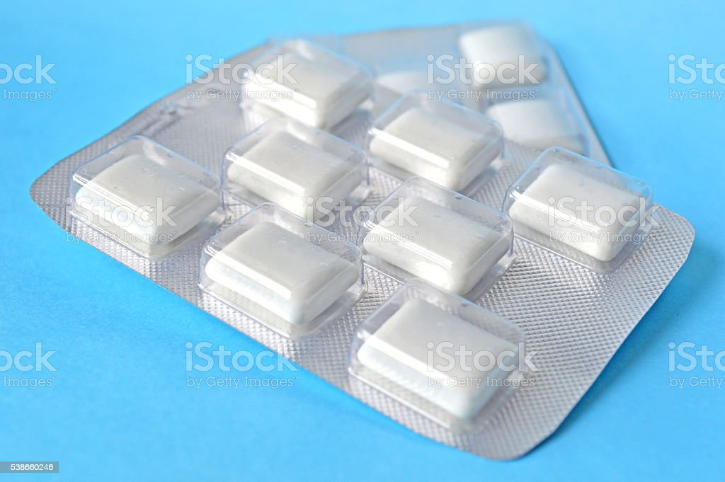 White chewing gum stock photo