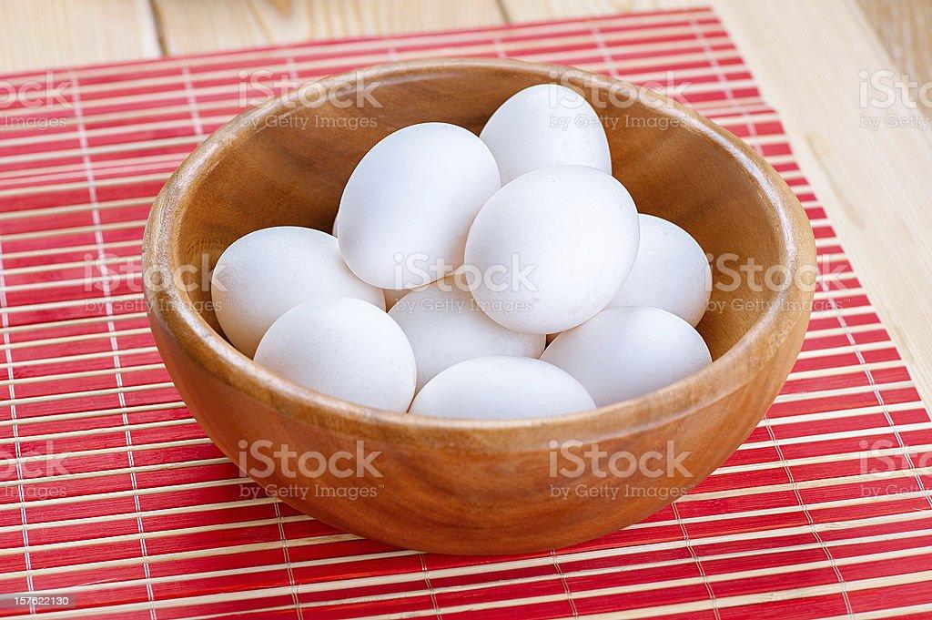 White chicken eggs royalty-free stock photo