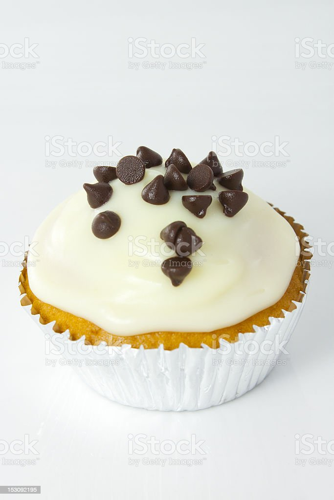 White Choc Cupcake royalty-free stock photo