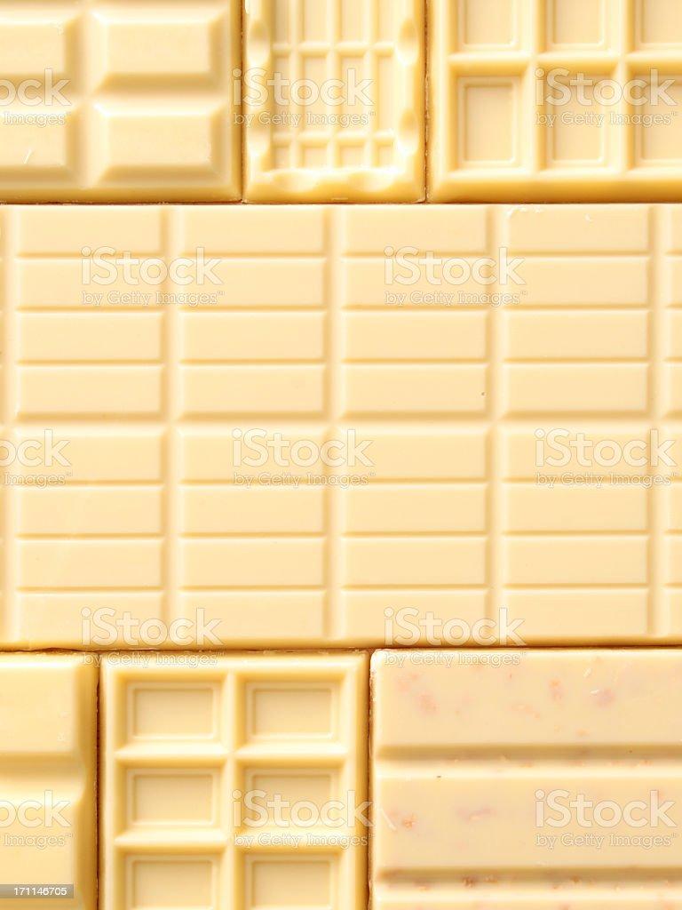 White chocolate bars background stock photo