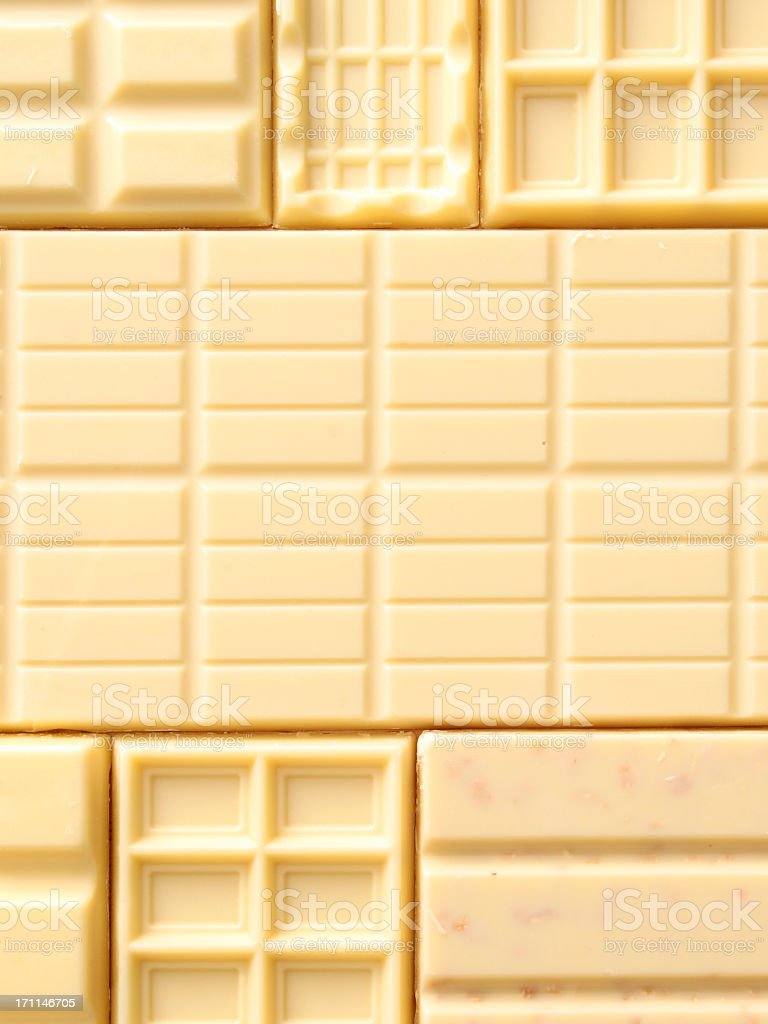 White chocolate bars background stock photo