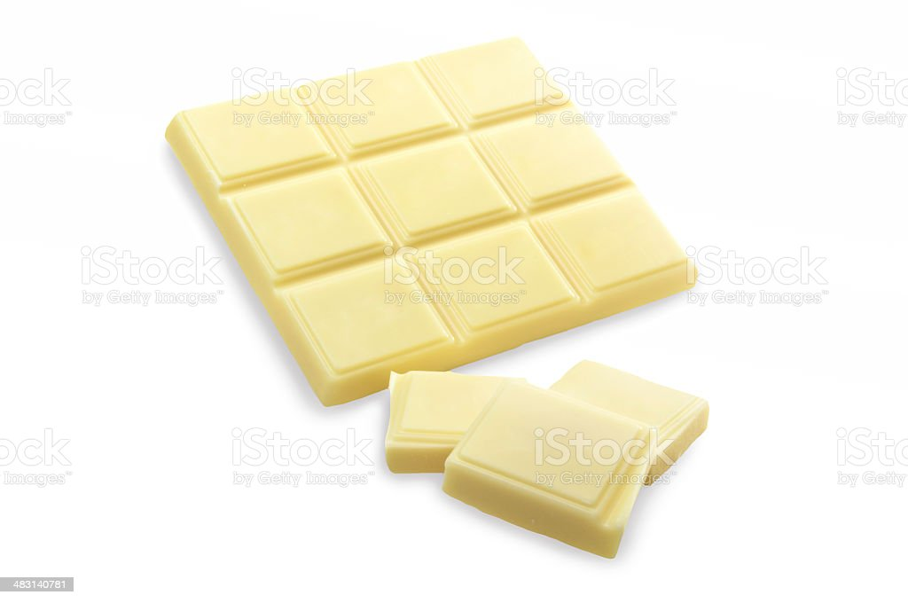 White Chocolate Bars stock photo