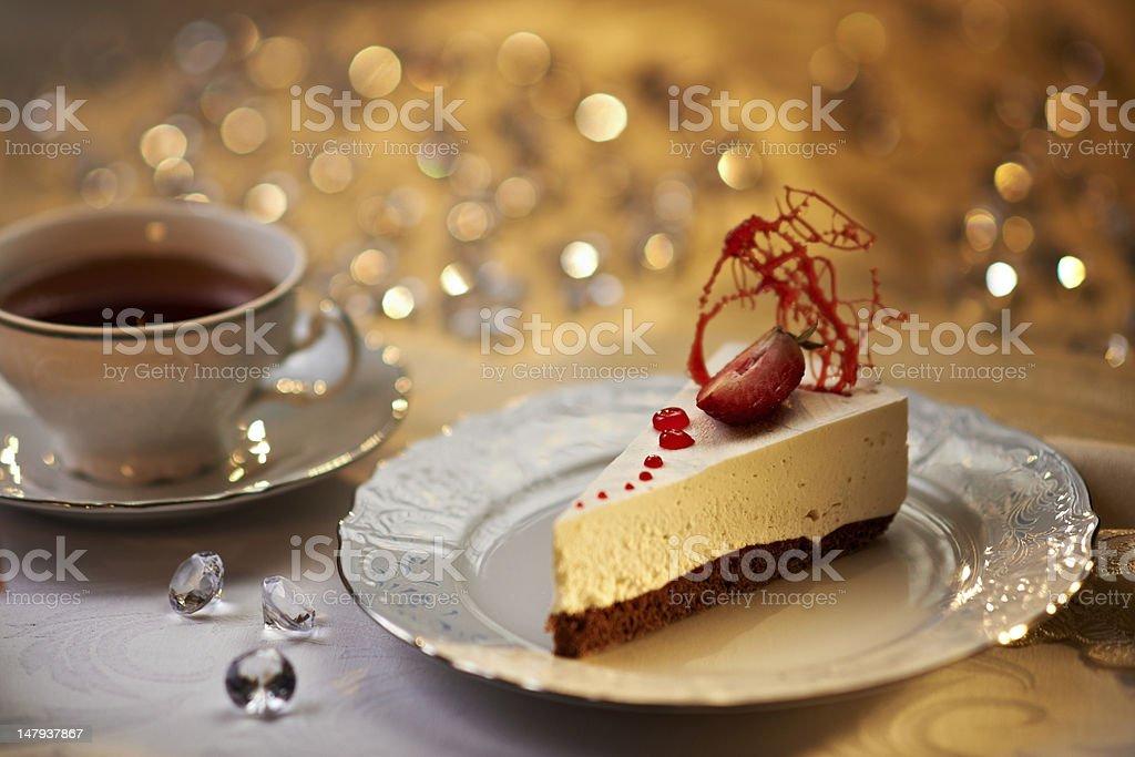 White chocolate cake royalty-free stock photo
