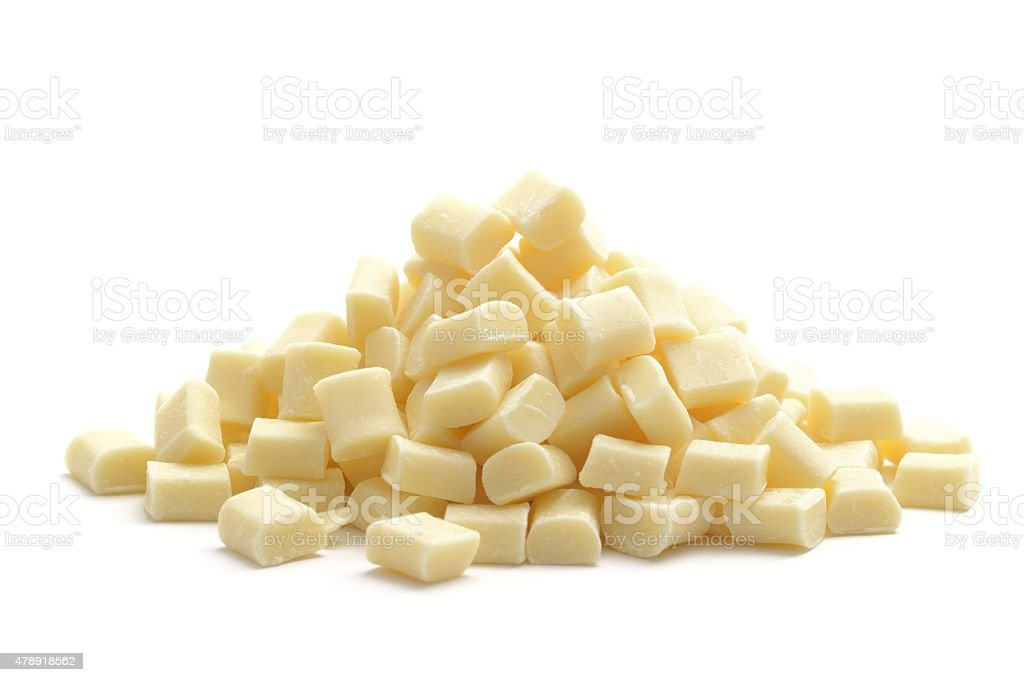 White chocolate chunks stock photo
