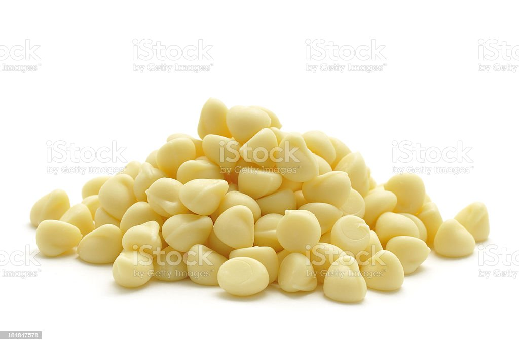 White Chocolate Drops royalty-free stock photo