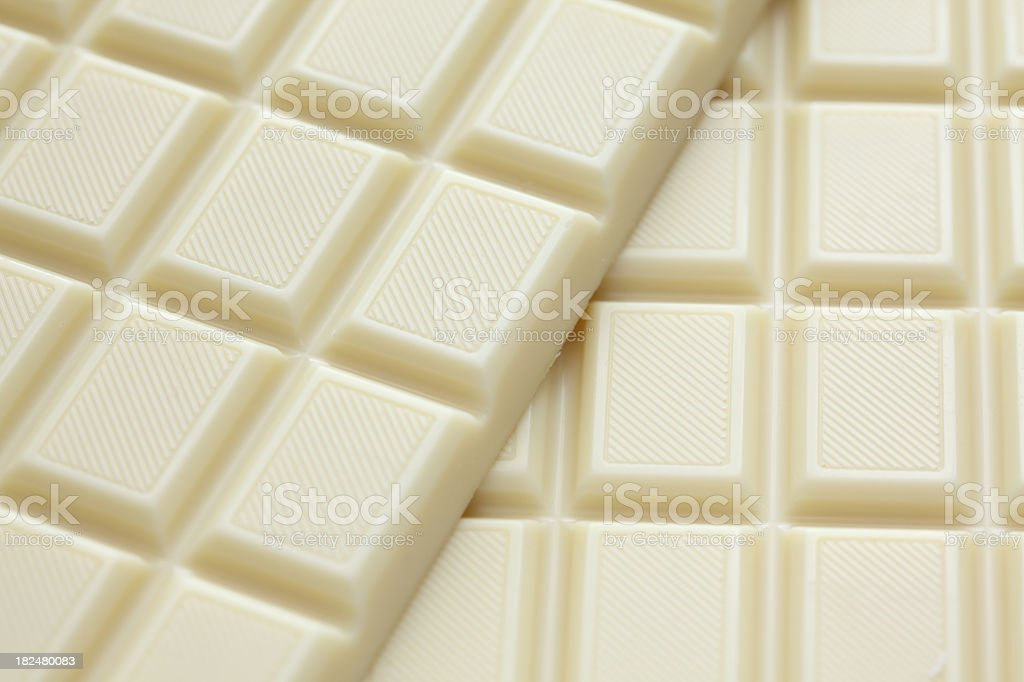 White chocolate made into square grid pattern stock photo