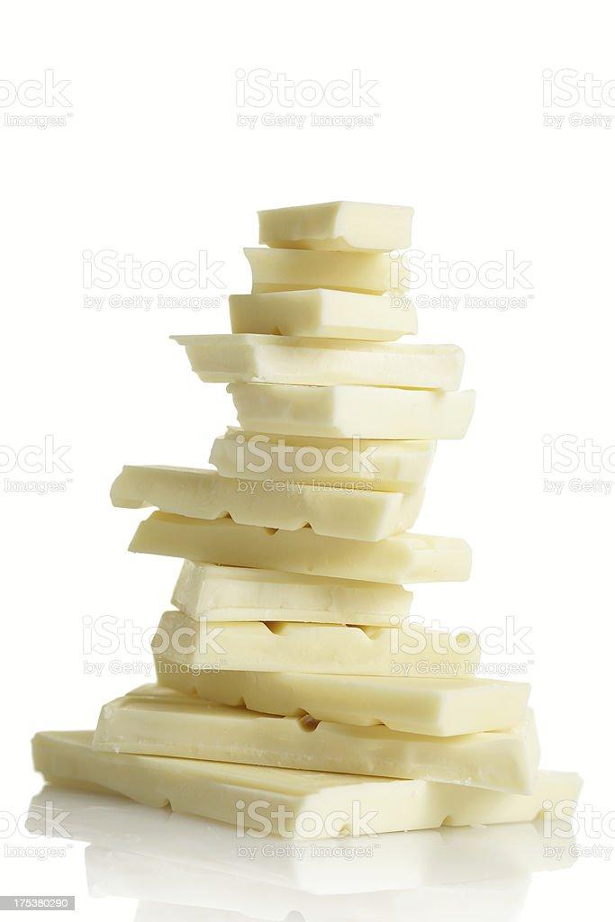 white chocolate stock photo